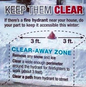 snow - fire hydrant